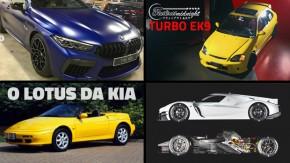 Novo prazo para as placas do Mercosul, as primeiras fotos do BMW M8, um Civic VTi turbo de 300 cv no Brasil e as novidades da semana no FlatOut e no YouTube do FlatOut
