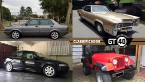 Um Voyage quatro portas turbo, um Cadillac com motor de 8,2 litros (!), um Vectra B da última leva e mais no GT40!