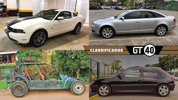 Um Ford Mustang GT de quinta geração, um Audi A6 com motor V8 e tração integral, uma gaiola off-road legalizada para as ruas e mais no GT40