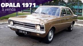 Este Opala quatro-cilindros 1971 com banco inteiriço e câmbio na coluna está à venda