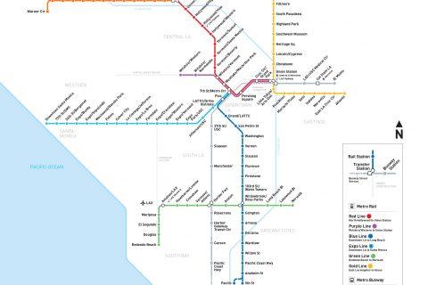 Metrô de Los Angeles atualmente